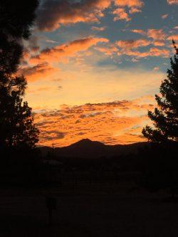 sunset at rv campground